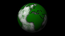 Money-Themed Rotating Globe With Green Euro Currency... Stock Video Footage