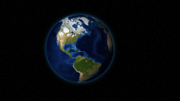 A Close-Up Shot At Rotating Planet Earth From Outer Space... Stock Video Footage