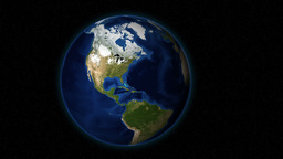 A Close-Up Shot At Rotating Planet Earth From Outer Space With Focus On North America Animation
