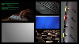 Computer Multiscreen Footage