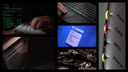 Computer Multiscreen Stock Video Footage