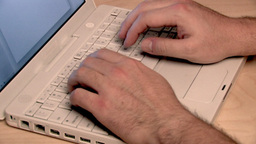 Typing on vintage Laptop Stock Video Footage