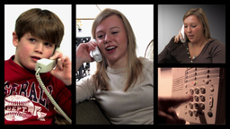 Family Teleconference Stock Video Footage