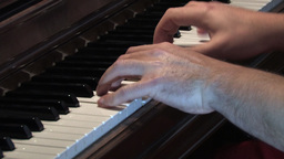 Piano Play Stock Video Footage