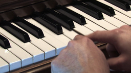 Piano Keys 1 Stock Video Footage