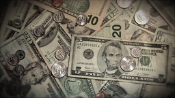 Money Rotate Static Stock Video Footage
