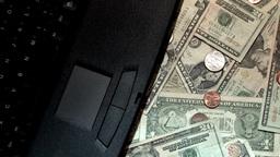 Money Laptop Stock Video Footage