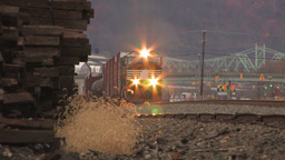 Train moving slow Stock Video Footage