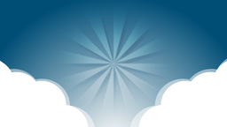 Cloud with light tunnel Animation