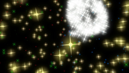 Exploding Fireworks In Rainbow Colours 3D Animation Stock Video Footage