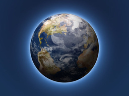Rotating Planet Earth With Soft Glow Stock Video Footage