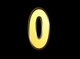 Animated Gold Embossed Number Zero Sign Stock Video Footage