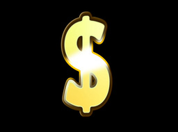 Gold Embossed Dollar Sign Stock Video Footage