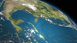 Satellite Image Of Planet Earth's Surface 3D Animation Animation