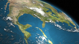 Satellite Image Of Planet Earth's Surface 3D Animation Stock Video Footage