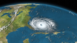 Satellite Image Of Storm Approaching Land 3D Animation (Close Shot) Animation