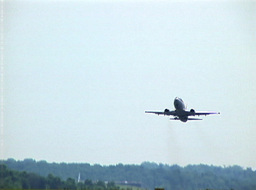 Commercial Aircraft Taking Off From The Runway Footage