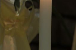 Candle burn panning Stock Video Footage