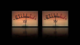 Twin signal level meter Animation