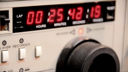 "Timecode readout 3/4"" U-matic deck Stock Video Footage"