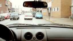 Driving on the street Stock Video Footage