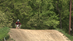 Dirt Bikers Jump Hill Footage