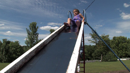 Girl on slide Footage