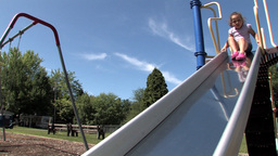 Playground slide Stock Video Footage