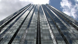 Looking Up From The Foot Of A Modern Steel And Glass... Stock Video Footage