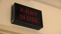 X Ray sign Stock Video Footage