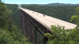 New River Gorge Bridge Stock Video Footage