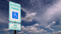 Handicap parking sign Stock Video Footage