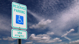 Handicap parking sign Animation