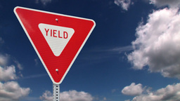 Yield road sign Animation