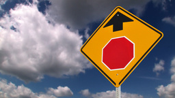 Stop ahead road sign Stock Video Footage