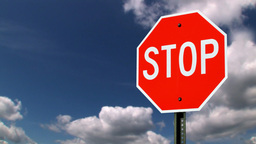Stop road sign Stock Video Footage