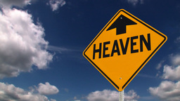 Heaven Is Up Sign stock footage