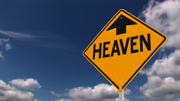 Heaven is up sign Stock Video Footage