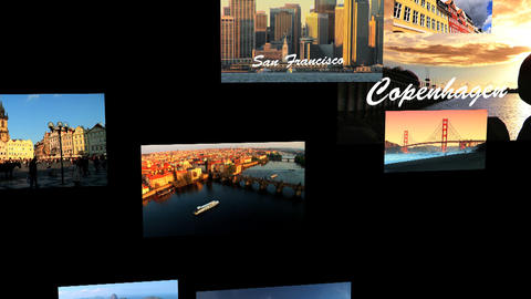 World Travel 3D Montage Final Stock Video Footage