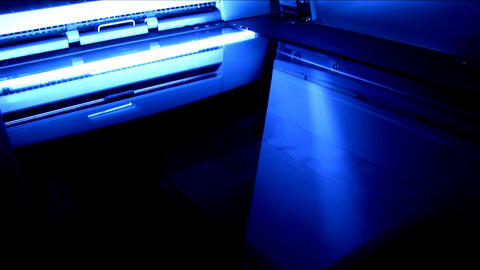 Office scanning machine in motion Stock Video Footage