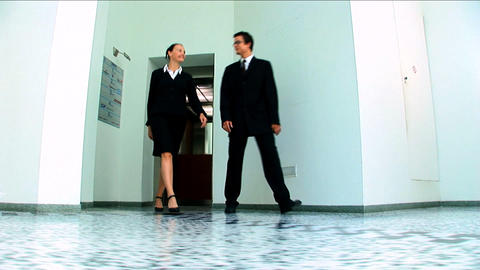 Young business people in a modern working environment Stock Video Footage