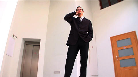 Young businessman in a modern working environment Stock Video Footage