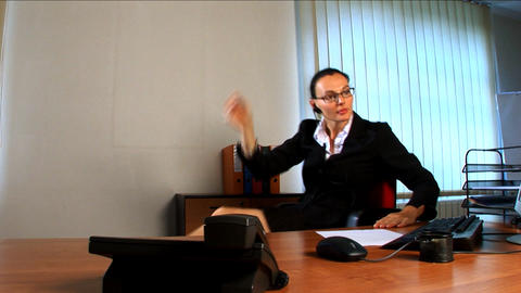 Young business woman feeling the pressure at work Stock Video Footage