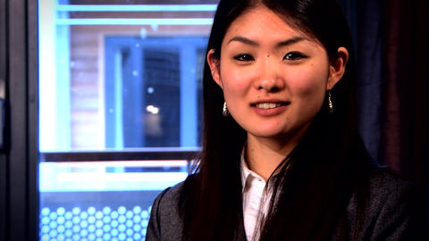 A portrait of an attractive Japanese businesswoman Footage