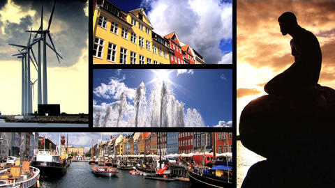 Collection of images from the city of Copenhagen in Denmark Footage