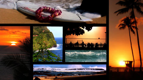 Collection of images from Hawaii Footage
