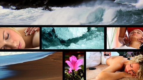 Collection of health & beauty spa images Stock Video Footage