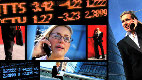 Collection of business and communication shots with... Stock Video Footage
