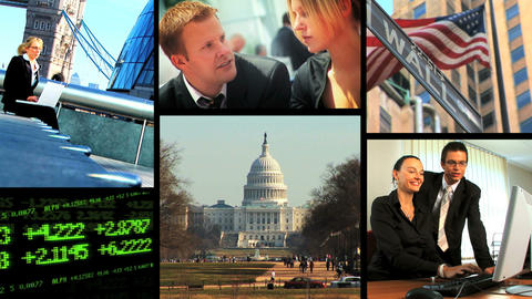 Collection of business and communication shots Stock Video Footage