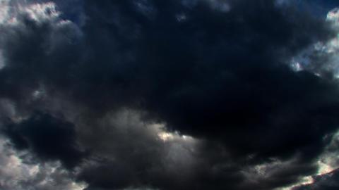 Stormy skies time lapse clouds looping Footage